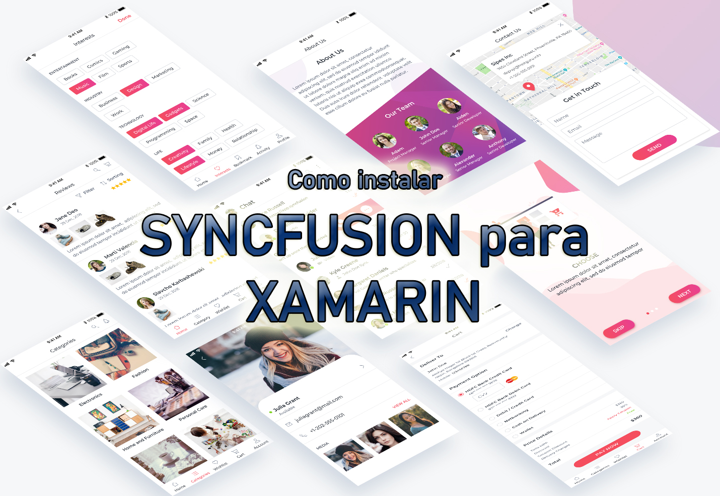 SyncFusion Essential UI Kit español